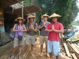 Elai y Tania en Birmania