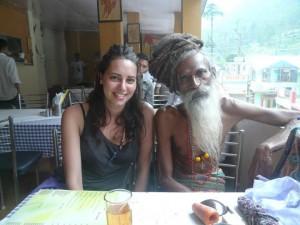 Tania y Baba en la India