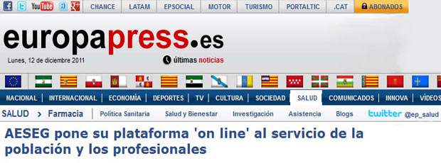 Noticia en Europa Press