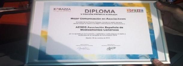 Premio Korazza medicamentos genéricos