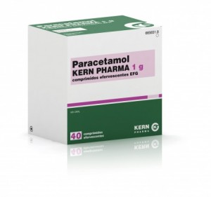 Envase de paracetamol EFG