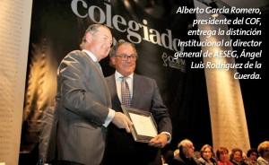 Reconocimiento de los farmacéuticos madrileños a AESEG