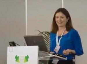 Doris Casares, Dircom de AESEG en Infarma 2014.