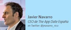 Javier Navarro CEO de The App Date España
