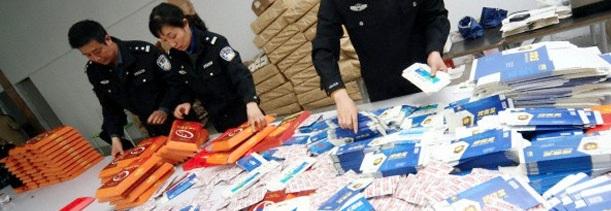 Alijo de medicamentos falsificados