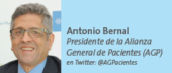 Antonio Bernal Presidente de la Alianza General de Pacientes (AGP) en Twitter: @AGPacientes