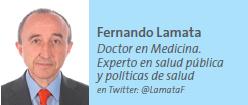 Fernando Lamata, Doctor en Medicina. Experto en salud pública y políticas de salud